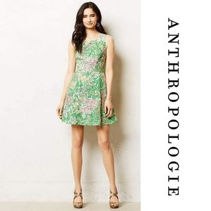 Anthropologie Maeve Laced Verbena Dress